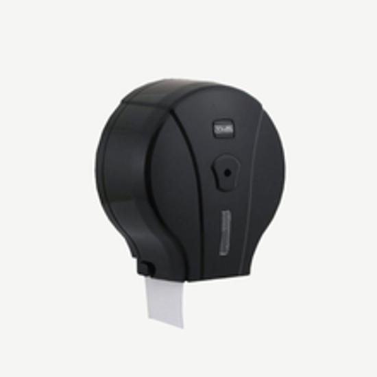Picture of Mini Jumbo WC Tissue Dispenser Black საპირფარეშოს ქაღალდის დისპენსერი შავი