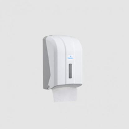 სურათი C FOLDED WC TISSUE DISPENSER (თეთრი) დაკეცილი ტუალეტის ქაღალდის დისპენსერი